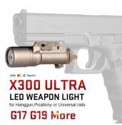 X300 Ultra LED Weapon Light, Hanggun Flashlight PP15-0026 | PPT P.P.T