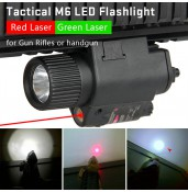 Tactical M6 LED Flashlight with 5mW Powerful Laser Sight Set for Rifle Pistol PP15-0003 | PPT P.P.T