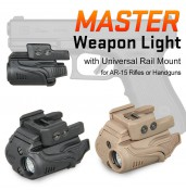 Master Weapon Light LED Light with Universal Rail Mount PP15-0035 | PPT P.P.T