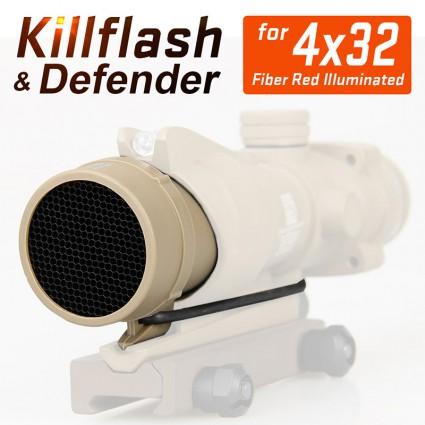 Killflash & Defender  for 4x32 Fiber Red Illuminated PP33-0031