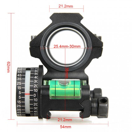 25.4mm or 30mm Rifle Scopes mount,Double ring+Angle Degree Indicator PP24-0185 | PPT P.P.T