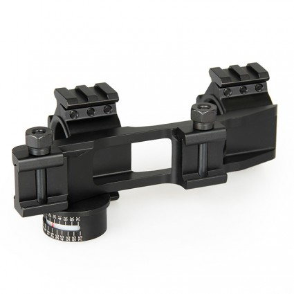 25.4mm or 30mm Rifle Scopes mount,Double ring+Angle Degree Indicator PP24-0186 | PPT P.P.T
