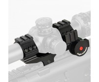 25.4mm or 30mm Rifle Scopes mount,Double ring+Angle Degree Indicator PP24-0188 | PPT P.P.T