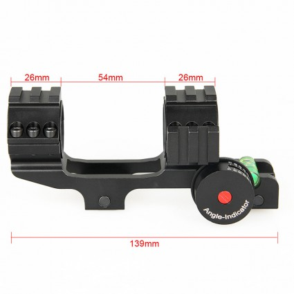 25.4mm or 30mm Rifle Scopes mount,Double ring+Angle Degree Indicator PP24-0188   PPT P.P.T