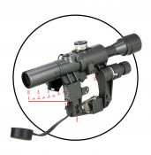 Russia AK SVD Dragunov sniper 4x24 rifle scope,side rail mount for hunting&shooting PP1-0330 | PPT P.P.T