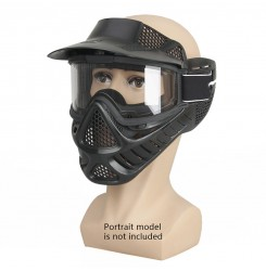 Tactical Full Face Mask,Outdoor Double Lense Face Mask & Goggles PP9-0003 | PPT P.P.T