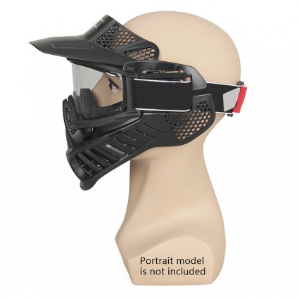 Tactical Full Face Mask,Outdoor Double Lense Face Mask & Goggles PP9-0003   PPT P.P.T