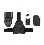 G17 Kydex Holster Set , G17 gun use, leg plate and waist belt using PP7-0083   PPT P.P.T