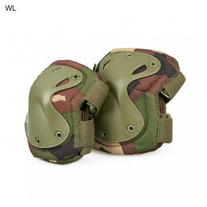 Tactical X Shape Knee Elbow Pads Set Soft Panel Adjustable Size Safety Protective Military Elbow Pads Tactical Knee Pads Police Elbow Knee Pads PP10-0008A   PPT P.P.T