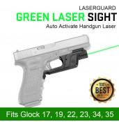 Tactical Green Laser Sight,LaserGuard Green Auto Activate Handgun Laser Sight PP20-0033 | PPT P.P.T