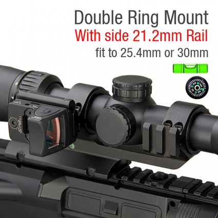 25.4mm or 30mm Rifle Scopes mount Bubble level PP24-0196 | PPT P.P.T