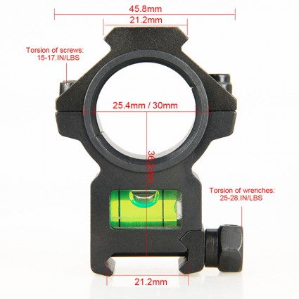 25.4mm or 30mm Rifle Scopes mount Bubble level PP24-0198   PPT P.P.T