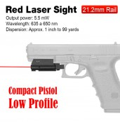 20mm Mounting Red Laser Sight/Red Laser Pointer/Red Laser for GLOCK PP20-0015 | PPT P.P.T