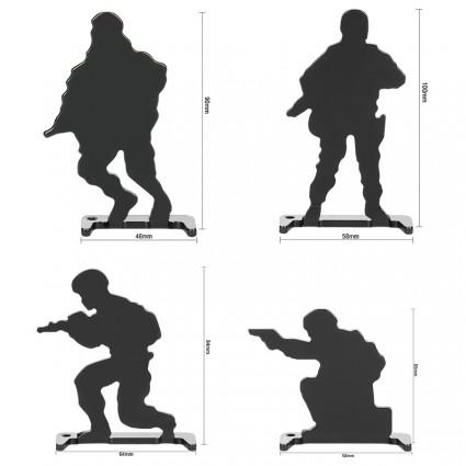 Bull's-Eye Target,Iron shooting practice target, 4 Pieces Set PP36-0020  | PPT P.P.T