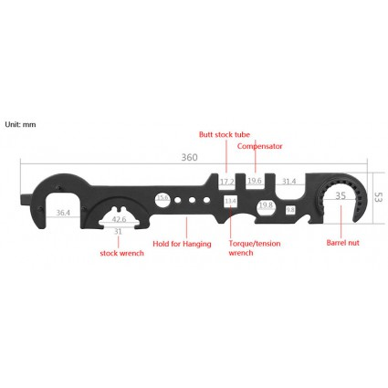 Steel Armorer's Wrench for Removal and Installation PP33-0139 | PPT P.P.T