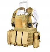 Molle Tactical Military Vest for hiking hunting and camping  PP4-0025 | PPT P.P.T