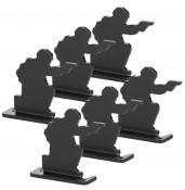 Bull's-Eye Target,Iron shooting practice target, 6 Pieces Set PP36-0019    PPT P.P.T
