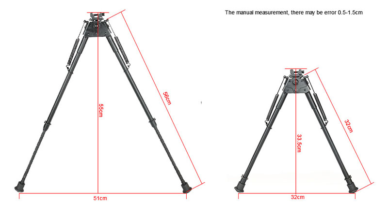 Tactical 13-27 Inch Bipod