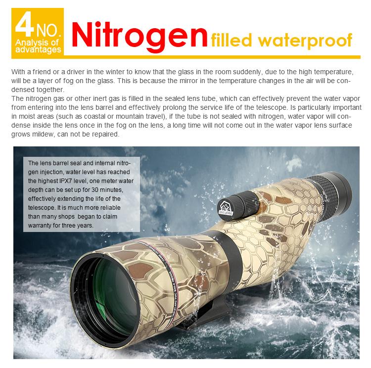 nitrogen filled waterproof