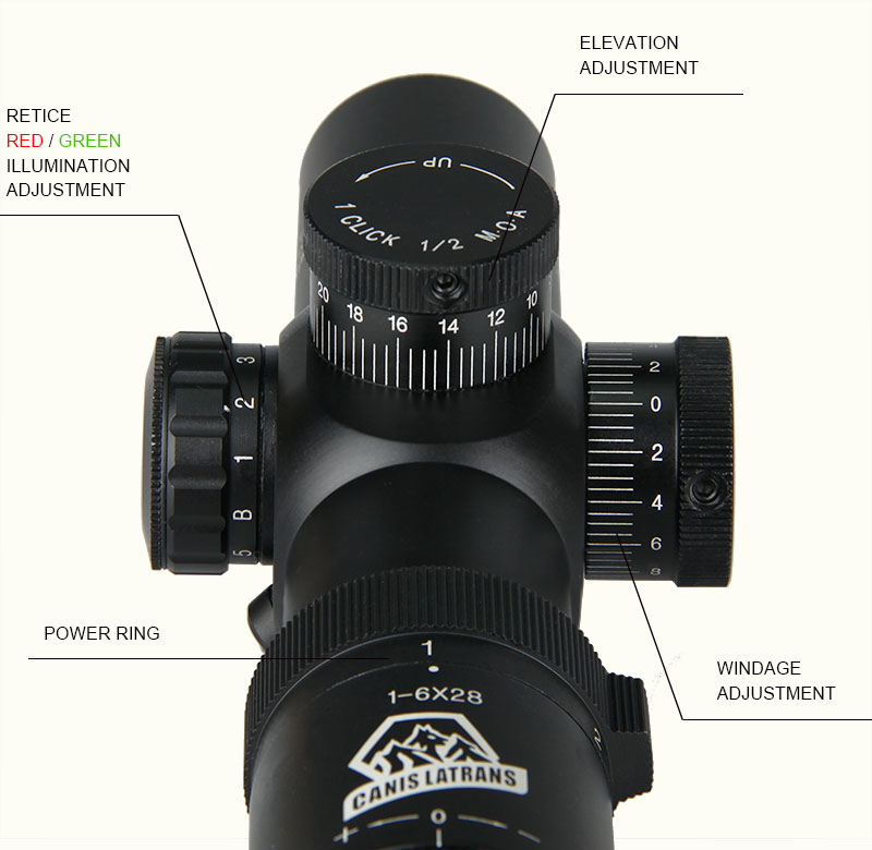 1-6x28 IRF Tactical Rifle Scope
