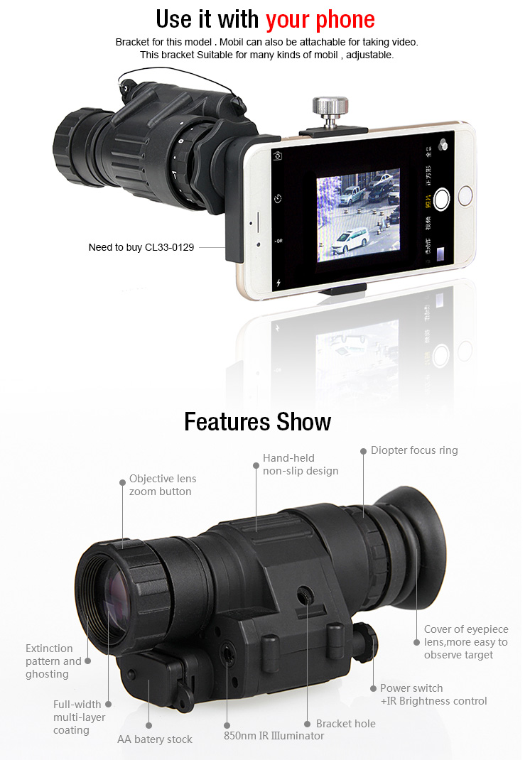 PVS-14 style digital night vision