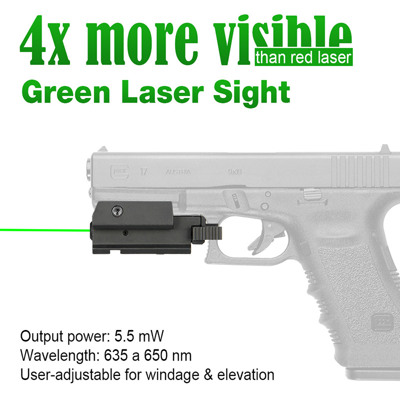 laser sight for pistol - GREEN laser sight with 20mm