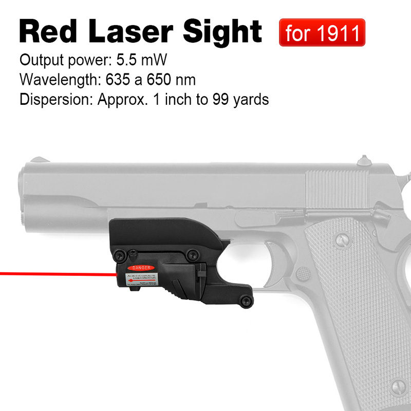 Red Laser Sight for 1911 Pistol